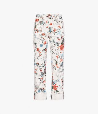Shaped for a relaxed, boyfriend fit, the Nathaniel Jeans are new to Erdem.