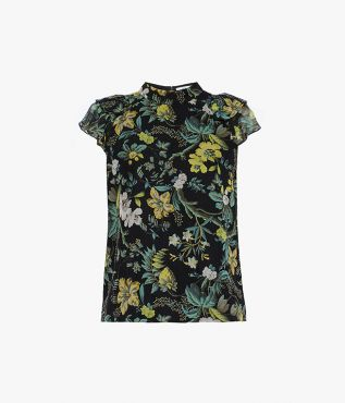 Opal Top Ashcombe Forest Silk Voile Erdem