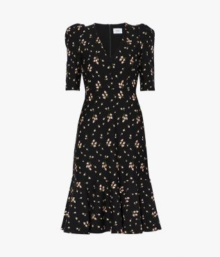 Ottavia Dress Bud Embroidered Ponte Jersey