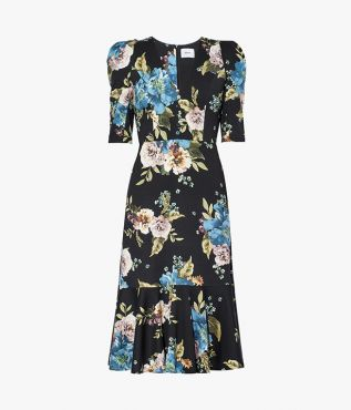 Ottavia Dress Carnation Bouquet Ponte Jersey Erdem