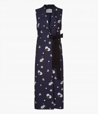 Rian Coat Floral Embroidered Erdem