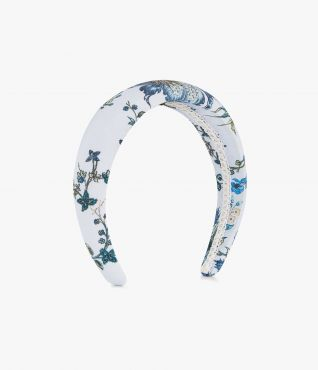 Complete a feminine ensemble with this padded silk crepe de chine headband.