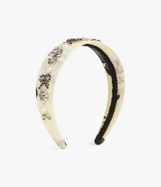 Erdem Rosemont Willow Beaded Headband
