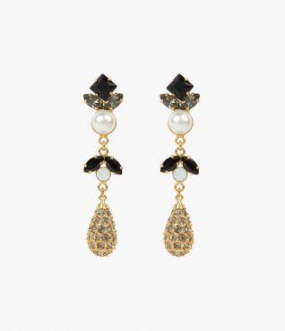 Crystal Drop Earrings Erdem
