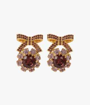 Crystal  Bow Earrings Erdem