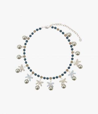 Crystal Bow Necklace Erdem