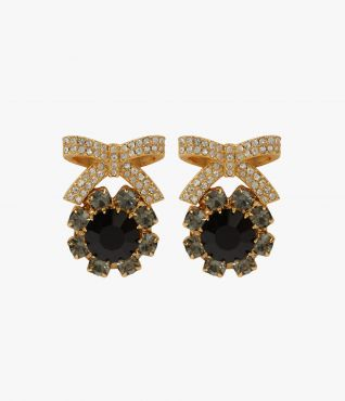 Erdem Crystal Bow Earrings