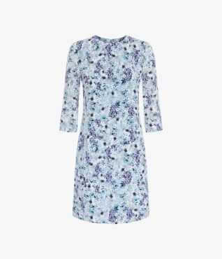 Erdem Emma Dress Meadow Park Teal