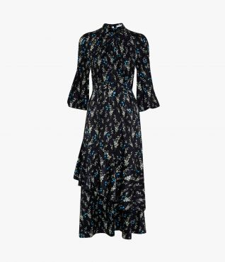 Erdem Verona Dress Willow Ditsy