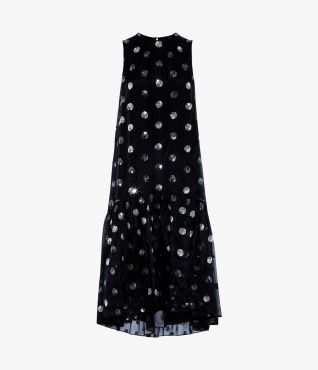 Erdem Winsloe Dress Linfield Dot Embroidery