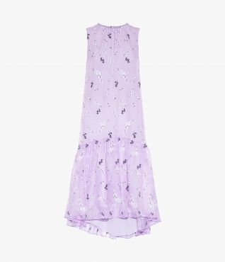Erdem Lilac Winsloe Dress Willow Ditsy Threadwork Embroidery