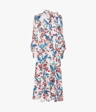 Yolande Dress Bird Blossom