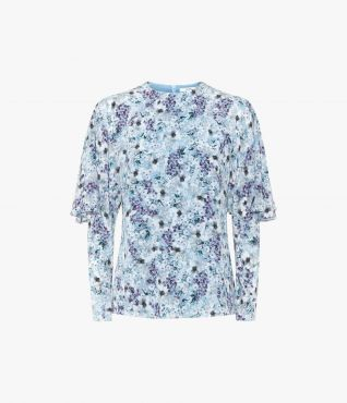 Erdem Averil Top Meadow Teal