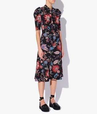 Knee length dress from Erdem which nods to styles from the 1920s and '30s.
