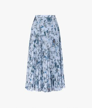 The Nesrine Skirt is cut from lightweight voile, pleated to create a fuller shape.