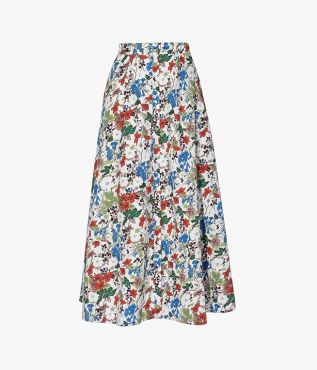 Erdem has collaborated with Liberty to reissue this archived watercolour print named Charleston Lawn.