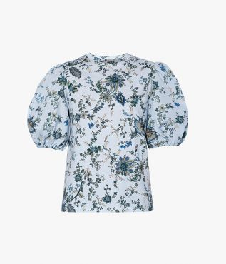 The Theodora Top is an easy to wear T-shirt style from Erdem's pre fall 2021 collection.