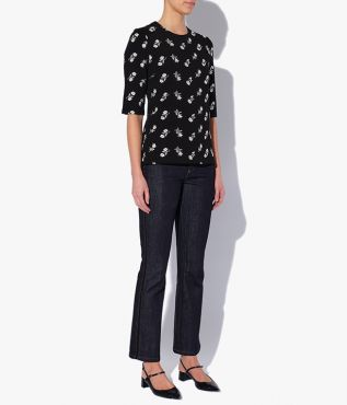 The Stella Top has a classic crew neckline and flattering half-length sleeves.