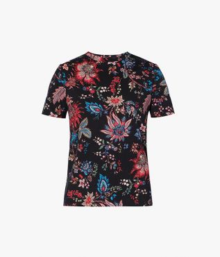 The Hettie T-Shirt from Erdem presents a laidback for a relaxed weekend aesthetic.