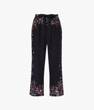 The Horace Trousers are cut from lightweight silk crepe de chine in black.