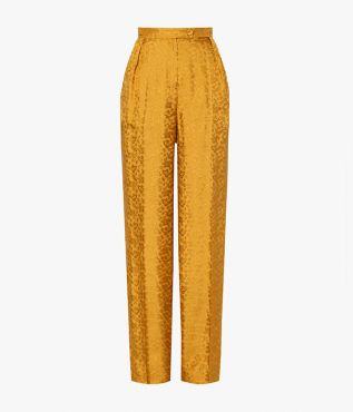 The high waisted Hortencia Trousers fall to a flattering wide leg.