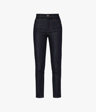 Myrna Jeans cut from indigo denim that has a small amount of stretch for the perfect fit.