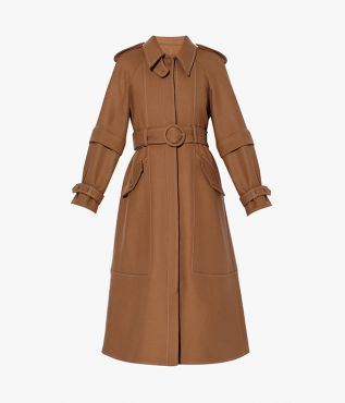 Ease into the new season with the versatile Olan Coat in a classic shade of camel.