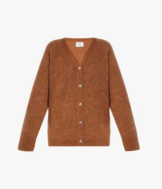 Relaxed, longline cardigan in a blend of mohair and wool from Erdem.