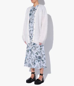 Erdem's Marcilly Cardigan, crafted from soft white mohair and wool.