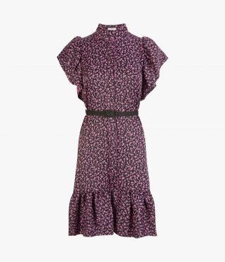 Lalique Dress Ditsy Satin Jacquard by Erdem