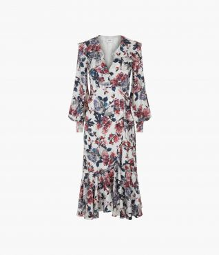 Jerridine Dress Rose Satin Jacquard by Erdem