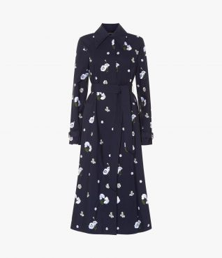 Lawrence Coat Floral Embroidered