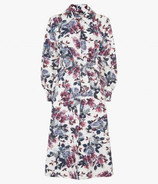 Lawrence Coat Rose Blossom Faille by Erdem