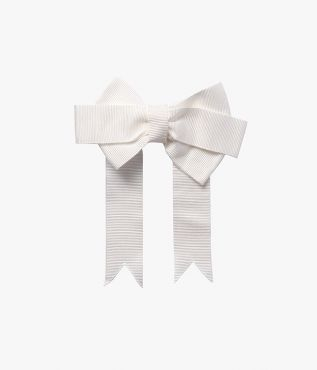 Ivory Bow Hair Tie