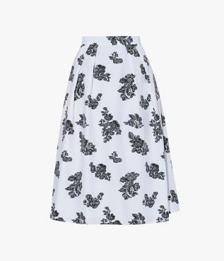 Erdem Reed Skirt Cotton Fil Coupe