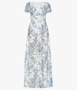 Rick Dress Toile de Jouy Silk Voile Erdem