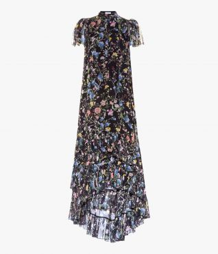 Aurelio Gown Bird Wallpaper Black