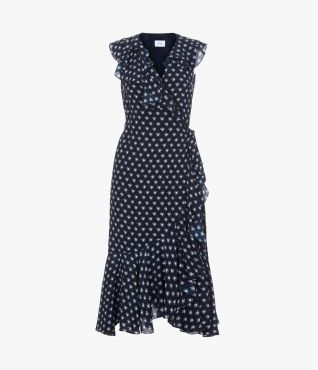 Junita Dress Kati Star Navy by Erdem