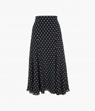 Vesper Skirt Kati Star Navy by Erdem