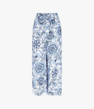 Everett Trousers Modotti Wallpaper Blue by Erdem