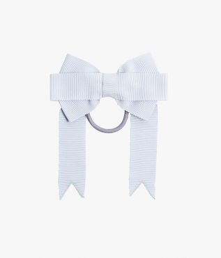 Erdem bow-adorned hair tie crafted from pale blue grosgrain.