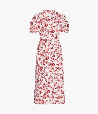 Erdem's Frederick Belted Shirt Dress is cut from crisp cotton poplin and decorated with the Romney Floral print.