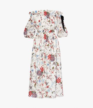 The Augustus Dress is crafted from linen and stamped with the season's Cadogan Graphic Bloom print.