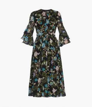 Christeen Dress Romney Floral Silk Voile