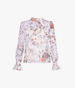 The Barnaby Top is decorated with this season's Cadogan Graphic Bloom.