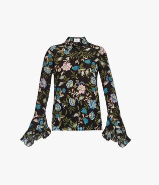 Alaric Shirt decorated with this season's multicoloured Romney Floral print.