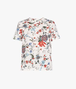Hettie T-Shirt in soft cotton jersey printed with the Cadogan Graphic Bloom design.