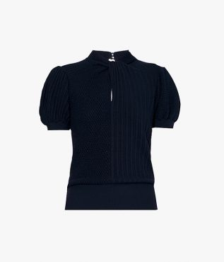Alban Jumper Navy Wool Knit