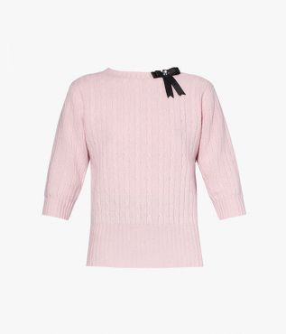 Avice Sweater Wool Knit Pink