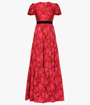 Triin Gown Fil Coupe Raspberry Erdem